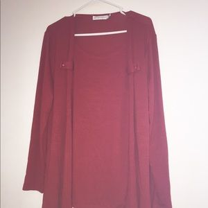 Women's size large red cardigan
